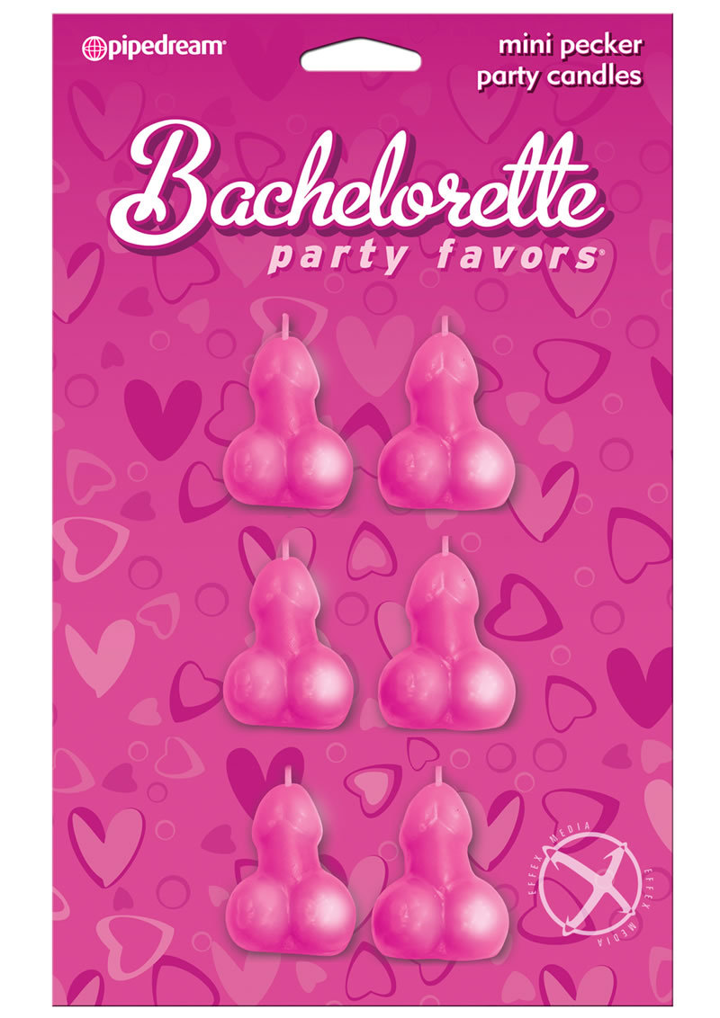 Bachelorette Party Favors Mini Pecker Party Candles 6 Per Pack Assorted Colors
