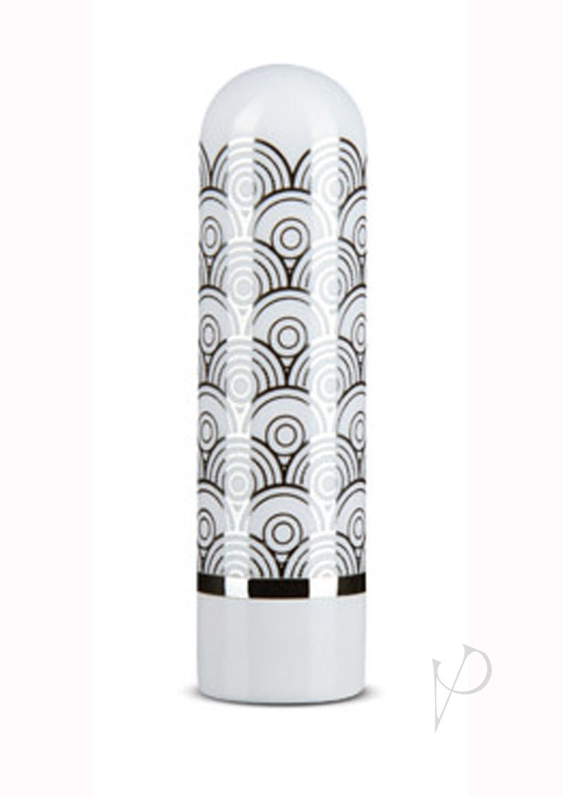 The Collection Glitzy Halo Rechargeable Bullet - Silver